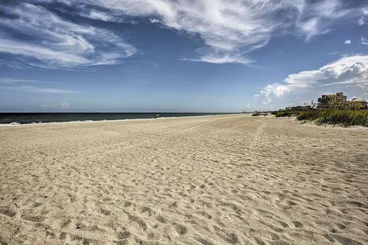 This Cape Canaveral condo boasts a location just 1 block from the beach.