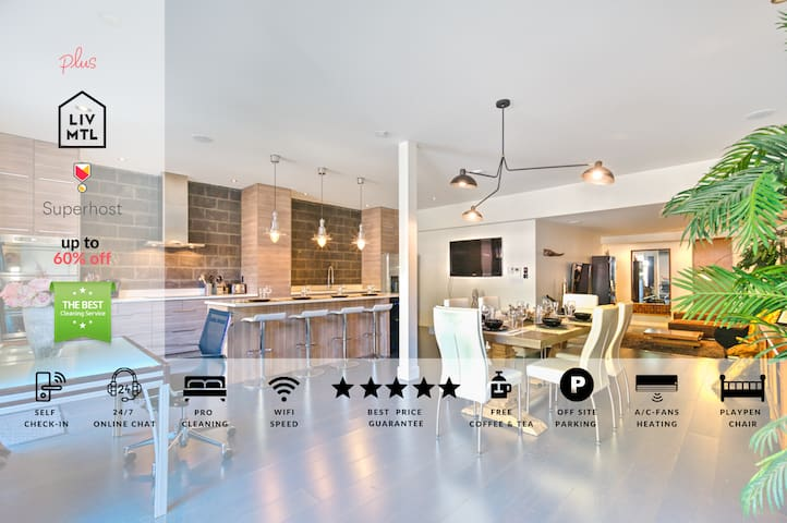 Liv MTL | Plateau | Up to 60% OFF |Penthouse 2BR + Rooftop Terrace + Ideal Big Family