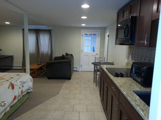Kitchen, Dining and Living Areas
