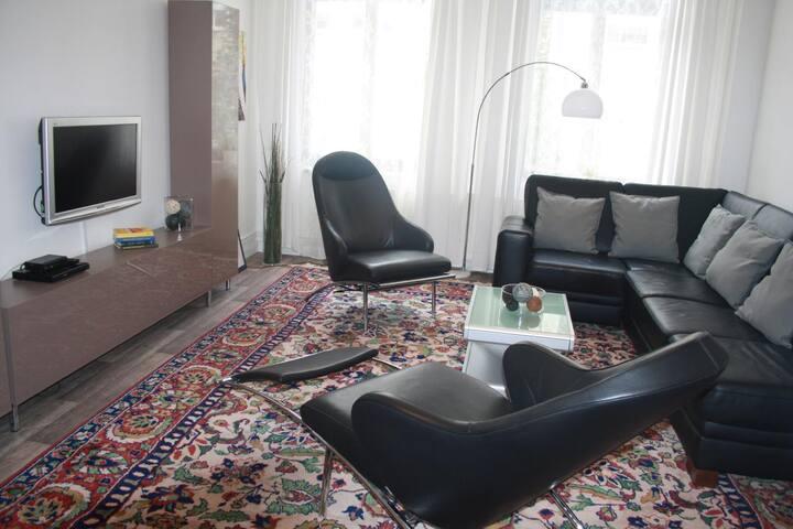 Ferienwohnung Wernigerode Urlaub mit Hund mit 2 Schlafzimmern , Erdgeschoß , Leihfahrräder gratis
