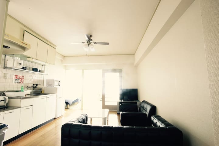 Susukino Station 5 minutes 3beds Portable Freewifi - Sapporo - Appartement