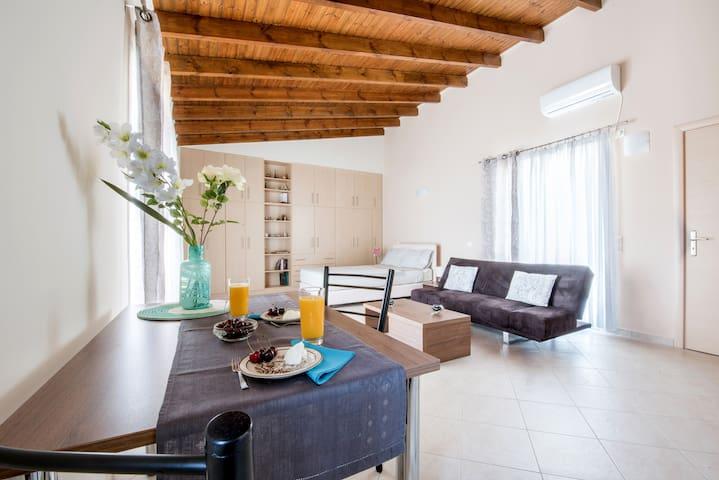 Top floor modern studio in central Koropi