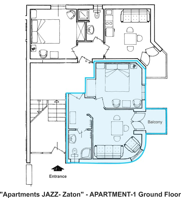 Apartment A1-Layout