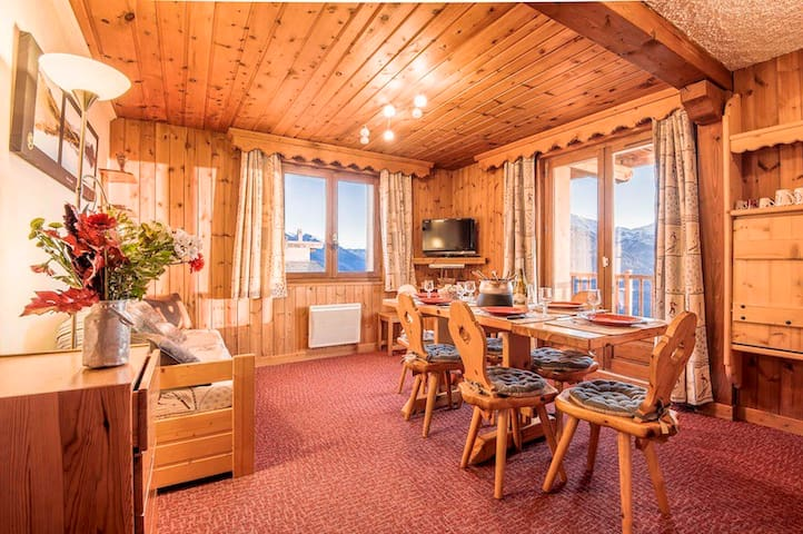 Appt 3* 60m² 8pers in chalet - La Rosière resort