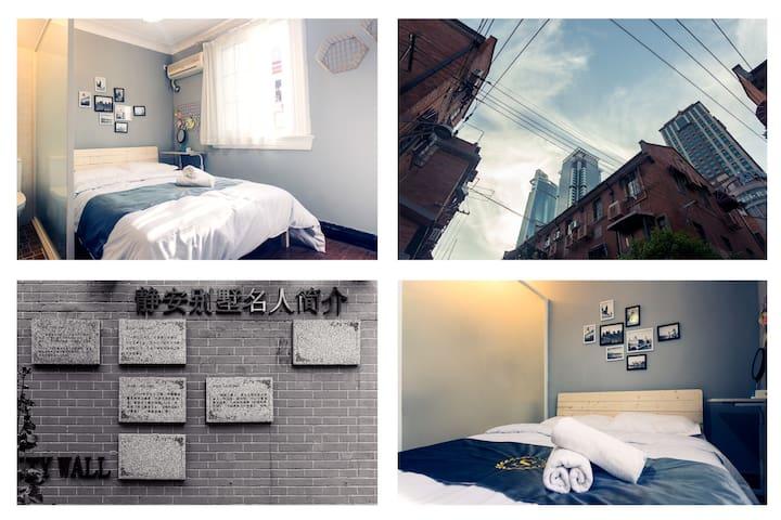 【外滩】南京路100米地铁口【静安别墅】20万一平的天价无敌地段 一居室大床房