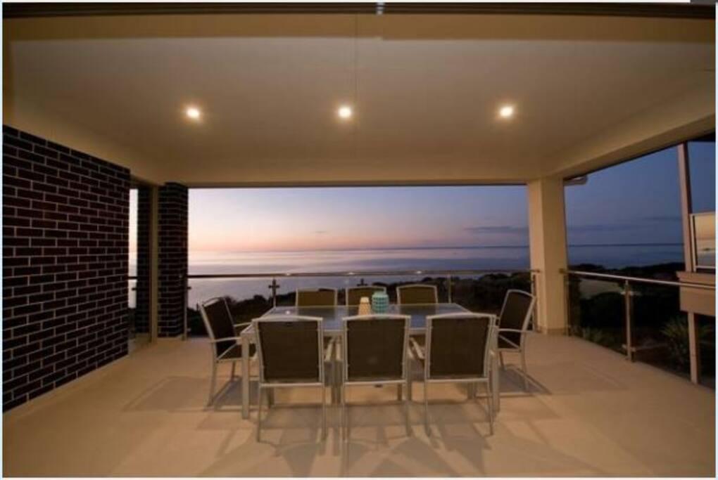 huge outdoor entertaining area - unrestricted ocean views.