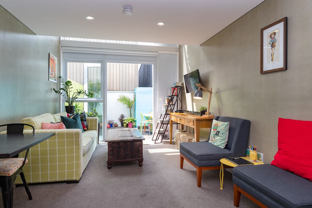 """""""The apartment was incredibly clean, well equipped, and the decor mirrored the fun and eclectic vibes of nearby Cuba Street."""""""