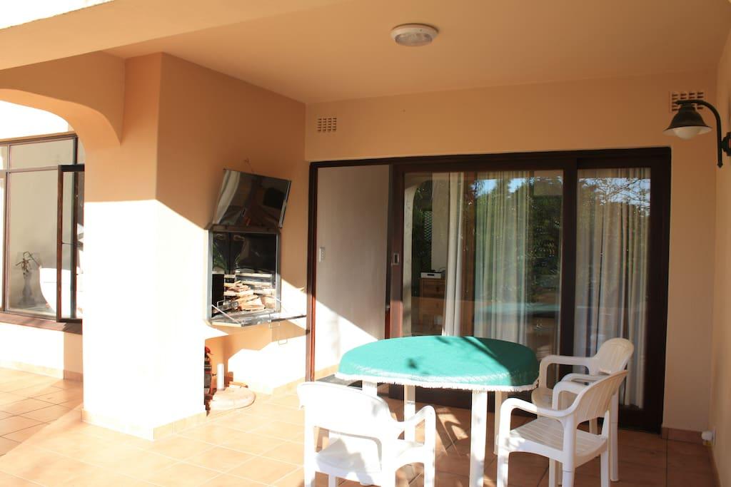 Outdoor braai and patio