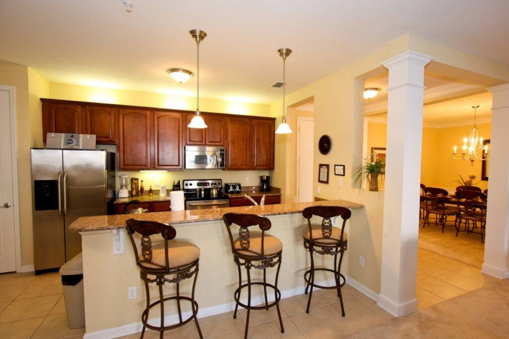 Breakfast Bar Seating for Three (3)