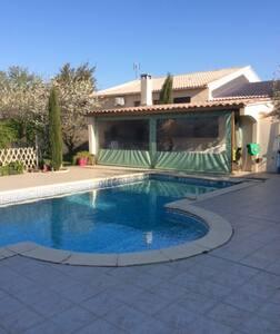 Villa avec piscine, idéal pour famille - Bouillargues