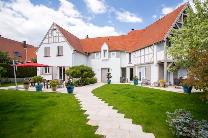 Villa Cosy Strasbourg - chambre avec jacuzzi - P.