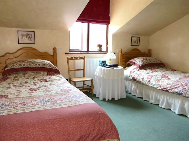 Twin Room at Tyddyn Chambers Farmhouse B & B