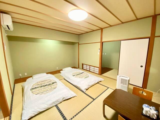 富士山の自然に囲まれた富士鵬欣会館/ 旭日丘バス駅徒步2分 / 和室素泊り