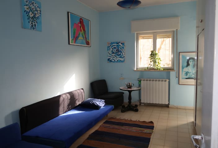 Cool blue room in typical aboriginal apartments