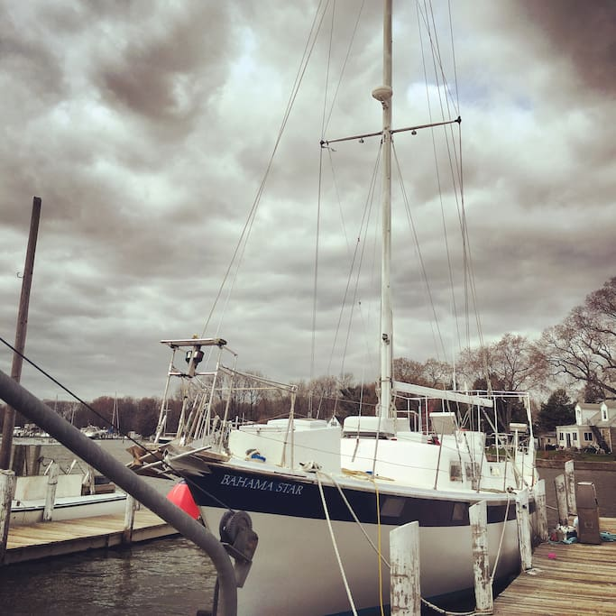 Safe harbor even in overcast weather at this dock!