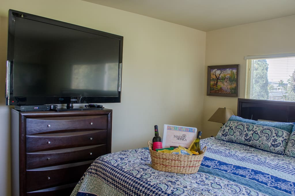 Full set of drawers and giant TV
