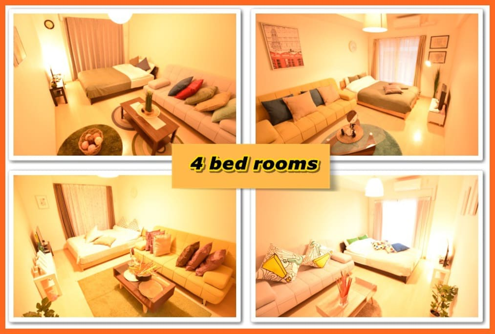 4 bed rooms