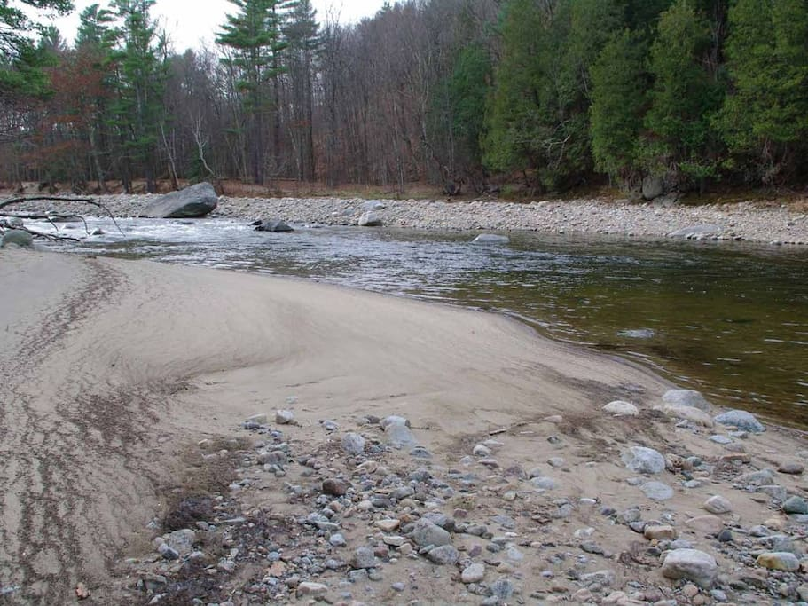 Private beach on the AuSable River.
