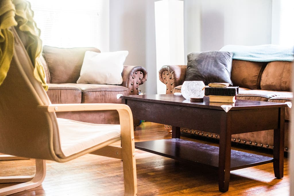 Living room is the perfect space to sip your morning coffee or have late night conversations.