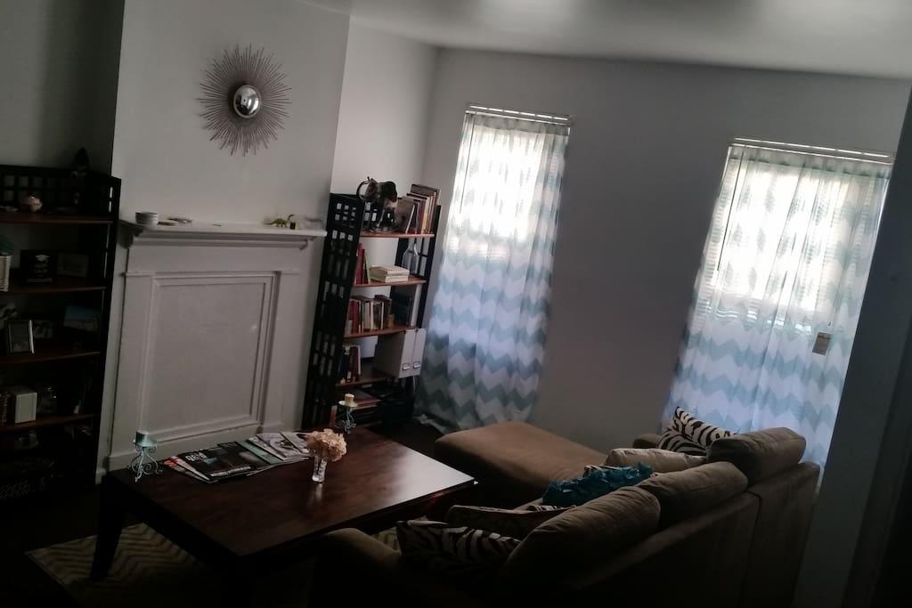 Living room - all the natural light made it seem a bit dark.
