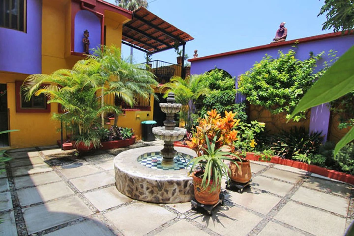 Courtyard with fountain