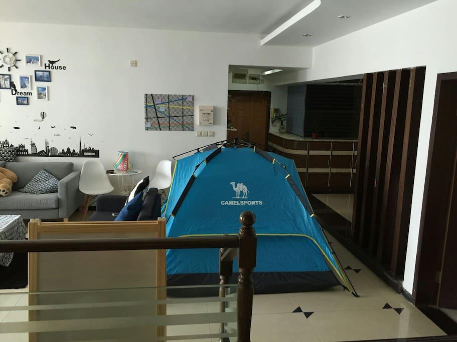 双人帐篷床