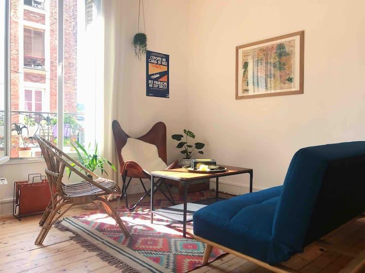 Appartement cosy proche de Montmartre