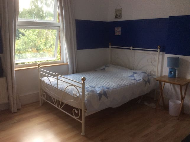Bright double room,relaxed home, great location