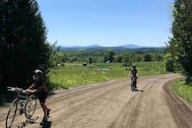 Easy access to the Lamoille Valley Rail Trail.