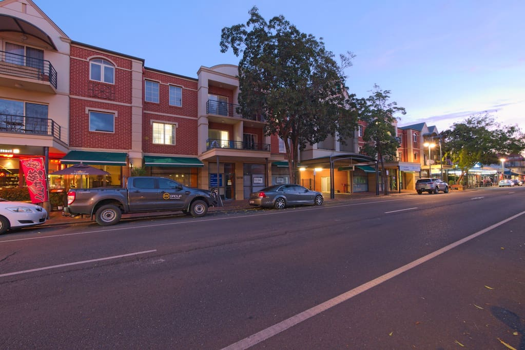 Enjoy the vibrant activity and convenience of staying on Melbourne St.