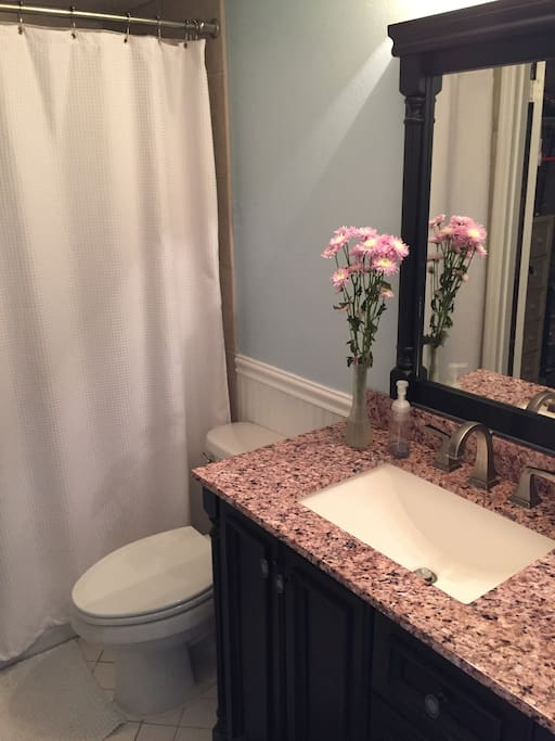 Clean, elegant bathrooms