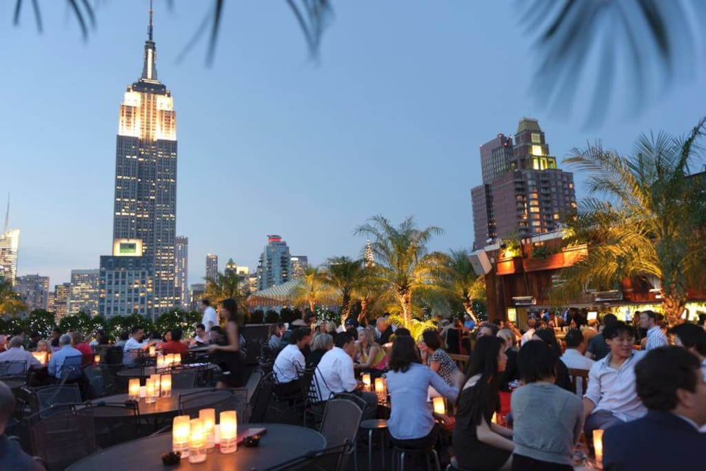Welcome to the famous rooftop bar! It is close by!