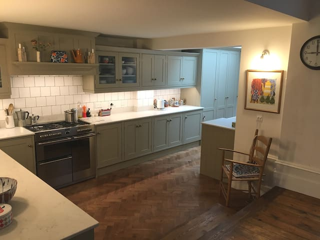 New kitchen with all modern appliances.