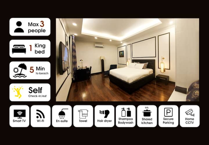 ✋Capacious City Central Ensuite Bedroom Max 3 PPL