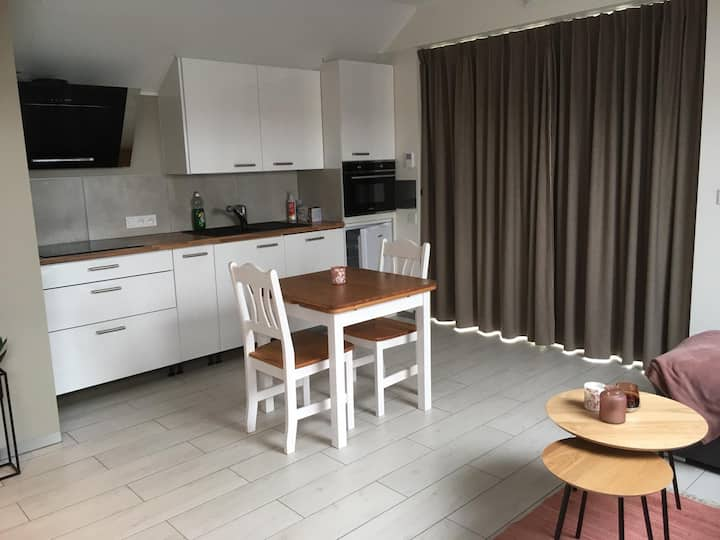 holiday studio with terrace and its own kitchen