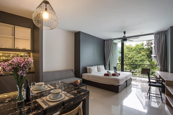 Luxury 45sqm Studio, Renovated, 500m Kamala Beach