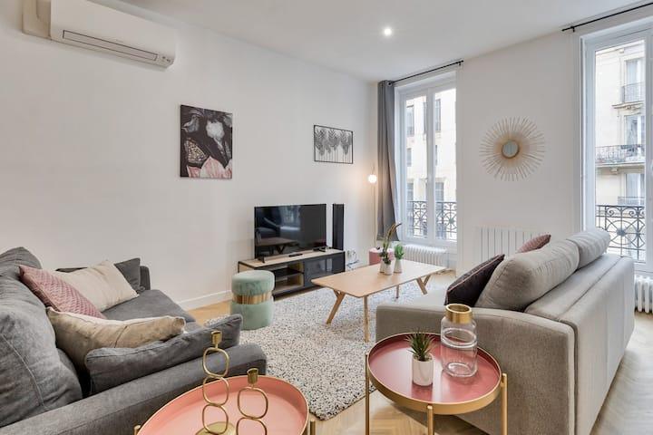 ♥ Luxury apartment near Arc-de-Triomphe - 8P