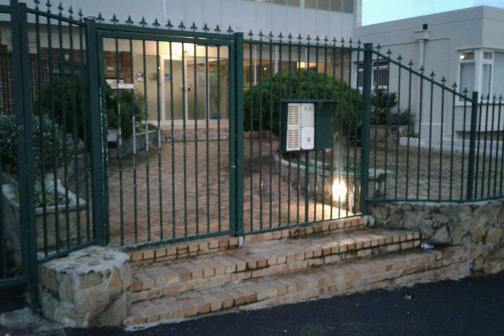 Well lit double security entrance