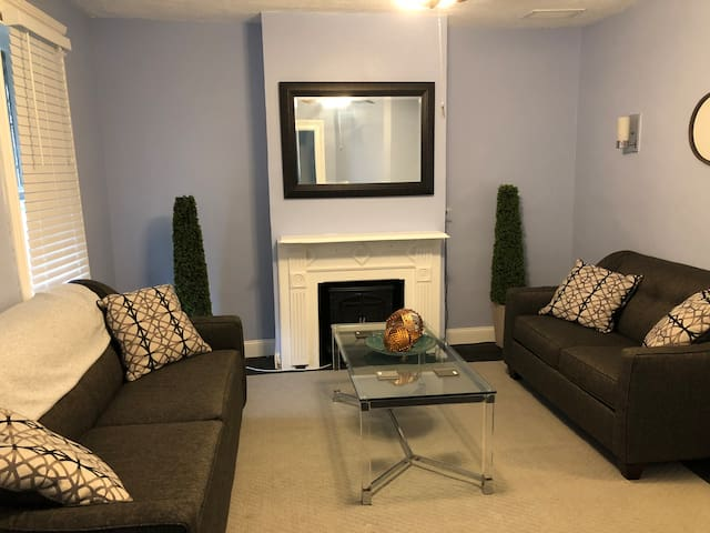 Shared living room with all new furniture.