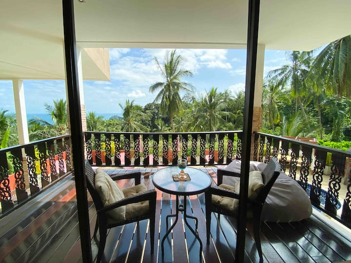 Samui Green Palm Resort Seaview Terrace Suite
