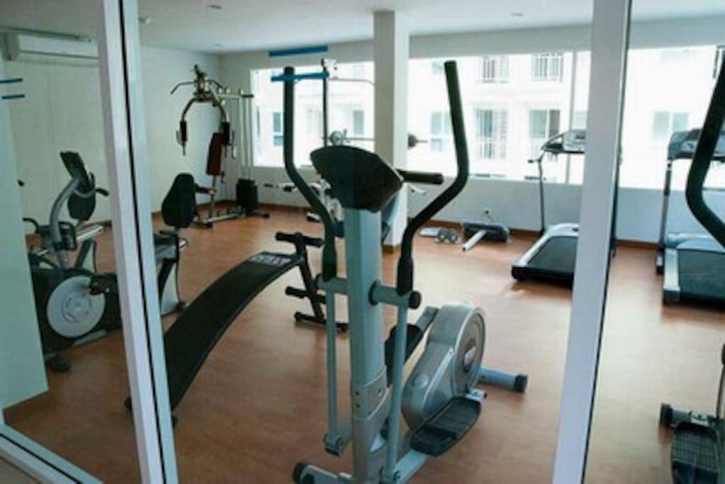 It's good to keep yourself being fit. My condo has a gym as well.