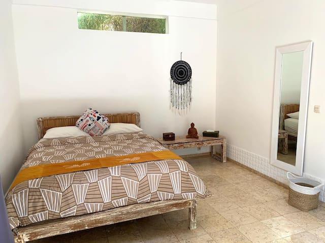 Cosy bedroom in villa with pool