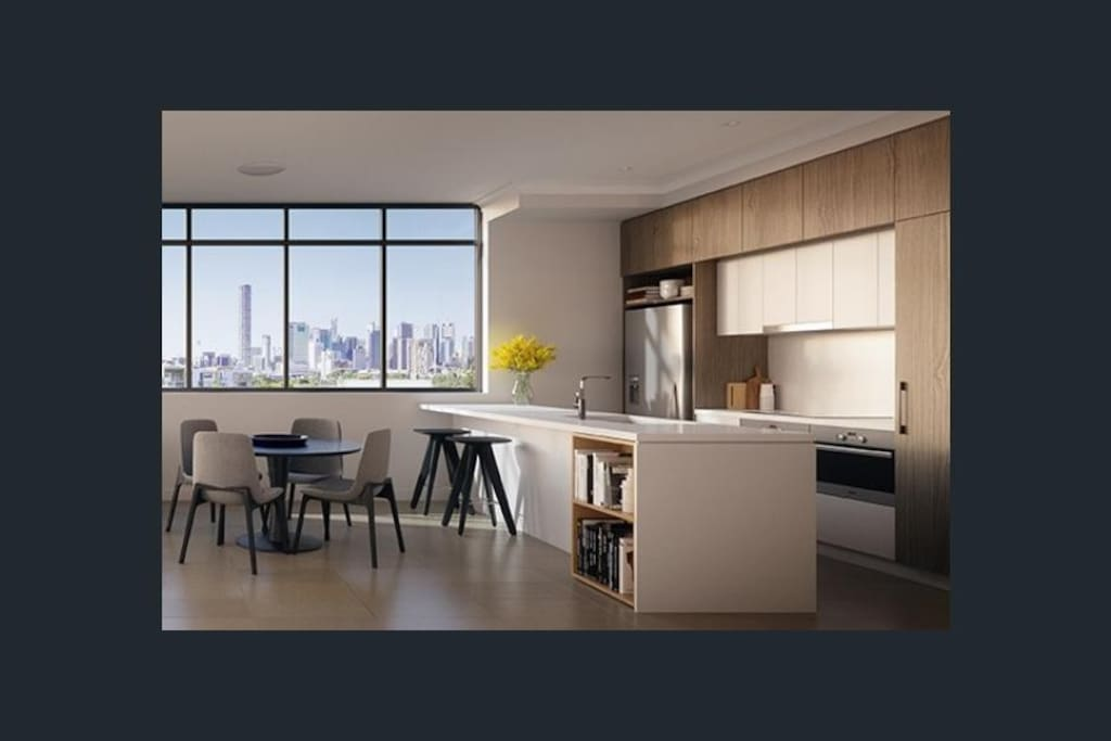 New apartment and modern kitchen