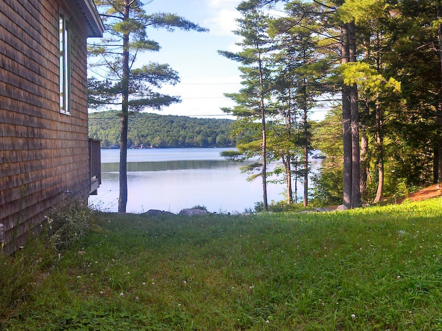 View of lake from side of house