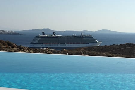 Delicate Mykonian house with sunset-sea view - 米科諾斯(Míkonos)