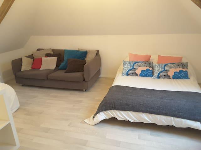 Chambres dans maison de Maître avec petit dejeuner - Lamberville - Penzion (B&B)