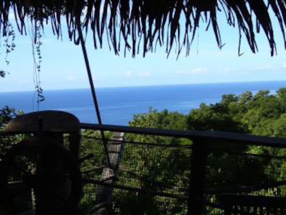 vue mer cabane des Pirates