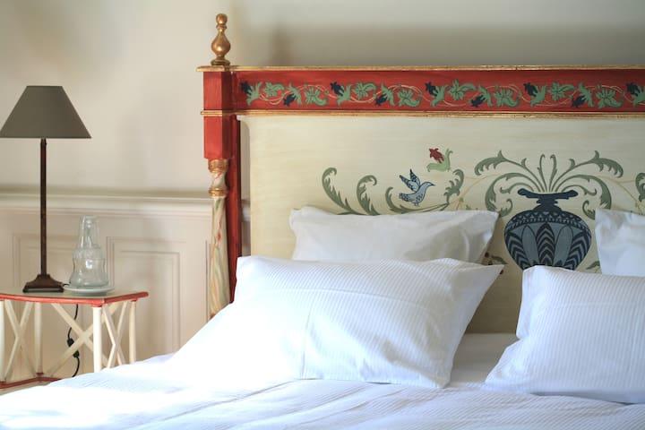 Manoir de la Fieffe - Chambre de l'Amiral - La Glacerie - Bed & Breakfast