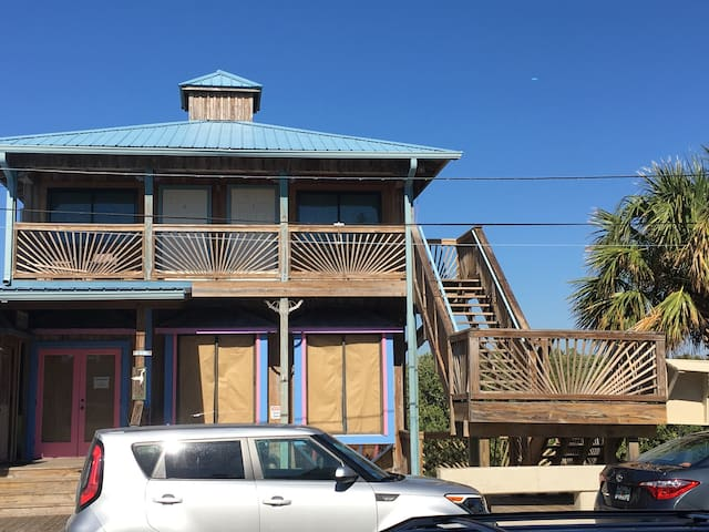 Gulf Front View on Dock Street (Anchor Hole #1) - Cedar Key - Apartamento