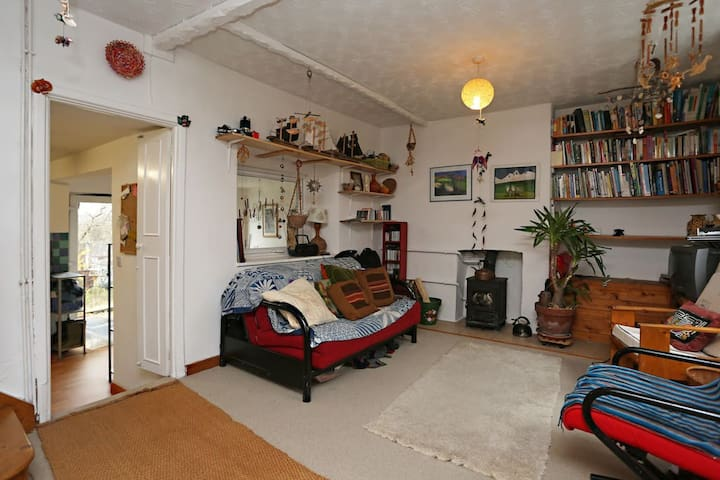 room in cosy cottage with large garden